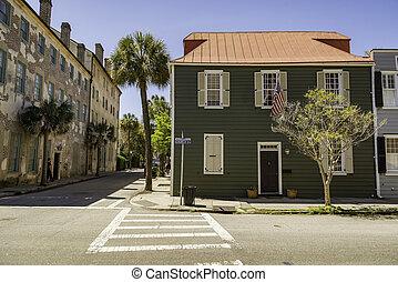 Historical downtown area of Charleston, South Carolina, USA