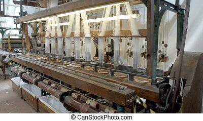 Historical european silk making machine - A medium tilting...