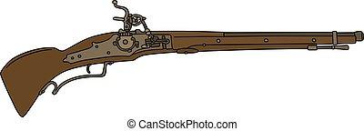 Historical flintlock gun
