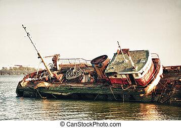 Historical forgotten ship wreck