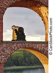 Historical fortified site of Bomarsund, Aland islands....