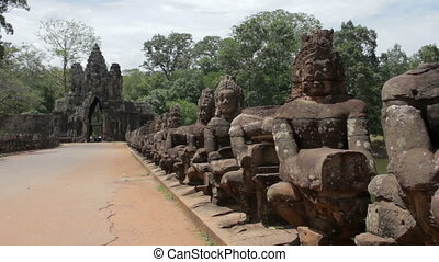 Historical gates in angkor wat
