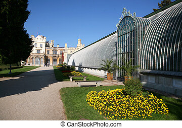 Historical Greenhouse by the castle Lednice - South of...
