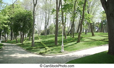 Historical Gulhane Park in near Topkapi Palace - Historical...