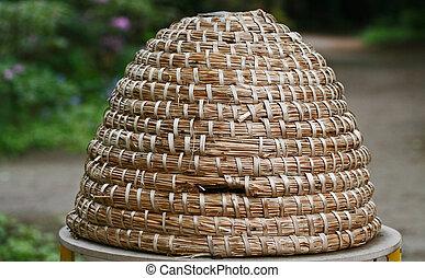 honey - historical honey basket used by beekeepers