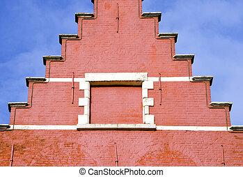 historical house fragment in Belgium