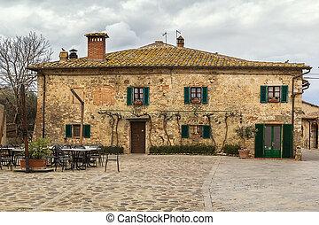 historical house, Monteriggioni, Italy