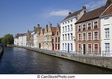 Historical Houses in Bruges, Belgium
