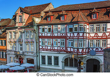 Marktplatz square in Schwabisch Hall, Germany
