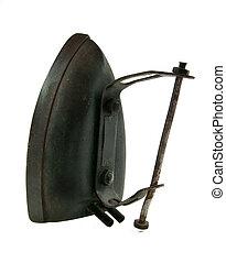 historical iron press
