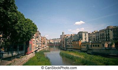 historical jewish quarter in Girona, Barcelona, Spain,...