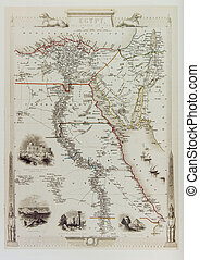 Historical map of Egypt and Arabia. From old atlas published...