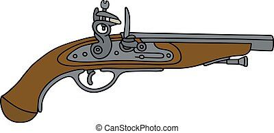 Historical matchlock pistol