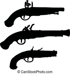 Historical matchlock pistols