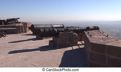 historical medieval cannons, India