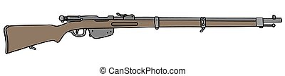 Historical military rifle