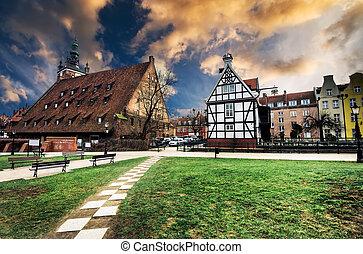 houses in cener of Gdansk