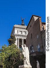 Piazza Campidoglio on Capitoline hill in Rome - Historical ...
