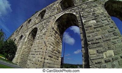 aqueduct - historical Ottoman aqueduct in Istanbul