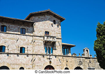 Historical palace. Assisi. Umbria. Italy.