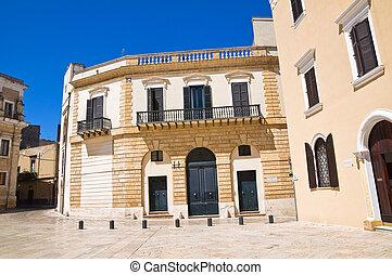 Historical palace. Brindisi. Puglia. Italy.