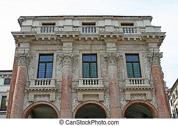 historical Palace in piazza dei signori in vicenza