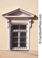 historical palace window with grating