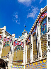 Historical places  of Valencia - Central market. Spain.