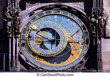 Historical Prague - old astronomical clock detail
