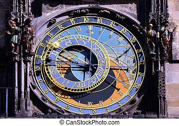 Historical Prague - old astronomical clock detail