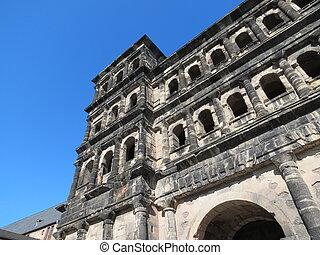 Roman gate in Trier - Historical Roman gate in Trier, ...