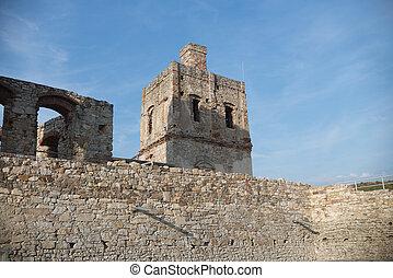 historical ruins of castle Krzyztopor in Swietokrzyskie,...