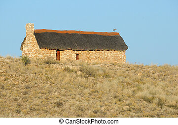 Historical settler home in the Kgalagadi Transfrontier Park.