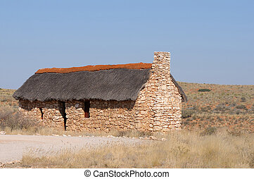 Historical settler home in the Kgalagadi Transfrontier Park