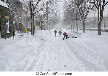 Historical Snow storm in Montreal