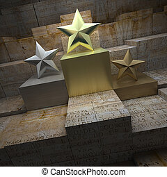 Historical star trophies