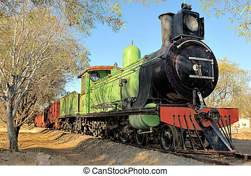 Historical steam train engine