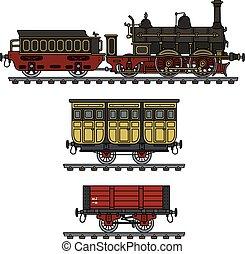 Historical steam train