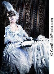 historical - Portrait of the elegant woman in medieval era...