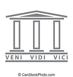 Historical symbol Rome design element logo ancient roman culture