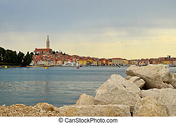 Historical Town of Rovinj at the Sunrise. Croatia.