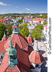 historical town Sopot - historic architecture of town Sopot,...