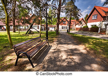 historic architecture of town Sopot, Poland