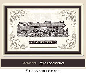 historical, trains - vector set - historical, trains, ...
