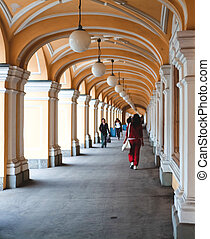 historical view, Arch, walking