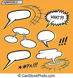 historieta cómica, burbujas