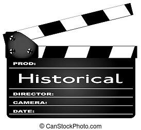 historique, film, clapperboard