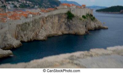 historique, mur, ville, croatia., vieux, dubrovnik