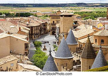 historique, navarra, espagne, village