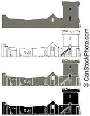 historique, royaume-uni, château, ecosse